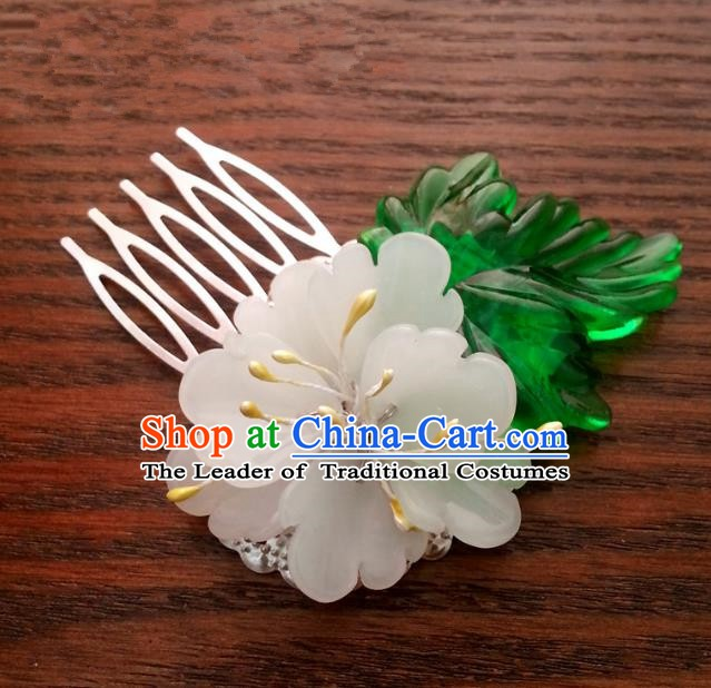 Traditional Handmade Chinese Classical Hair Accessories Flower Hairpins for Women