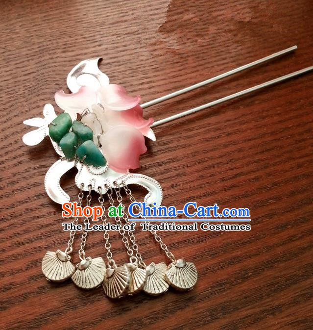 Traditional Handmade Chinese Classical Hair Accessories Ancient Princess Hairpins for Women
