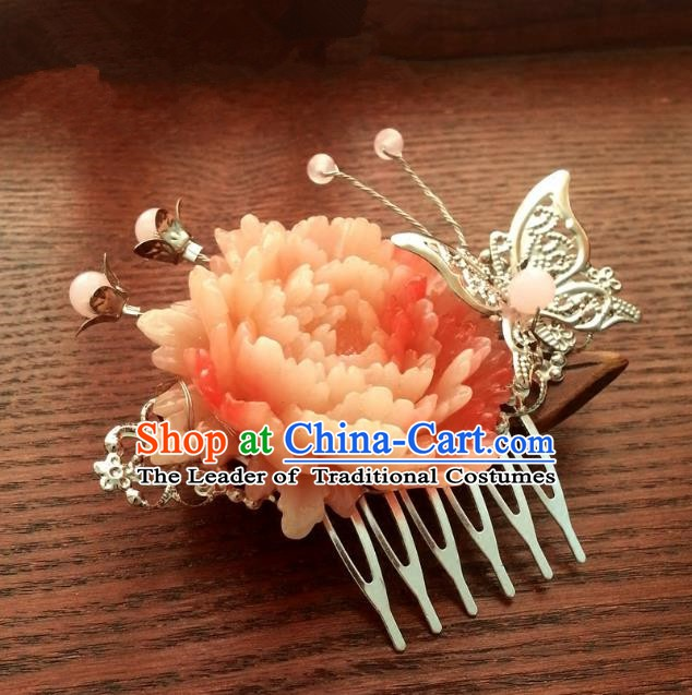Handmade Traditional Chinese Classical Hair Accessories Ancient Bride Hanfu Hair Comb Hairpins for Women