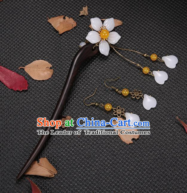 Handmade Asian Chinese Classical Hair Accessories Hair Clip Ancient Ebony Hairpins for Women