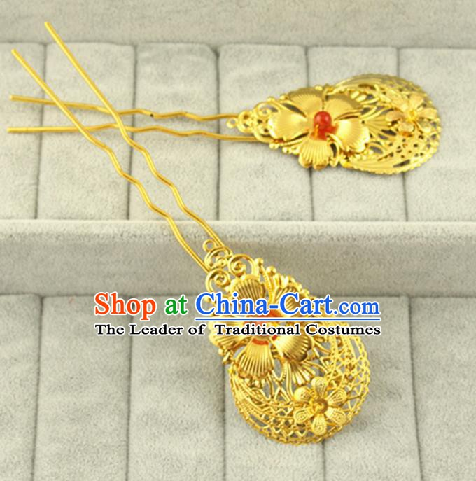 Asian Chinese Handmade Classical Hair Accessories Palace Lady Hanfu Hairpins for Women