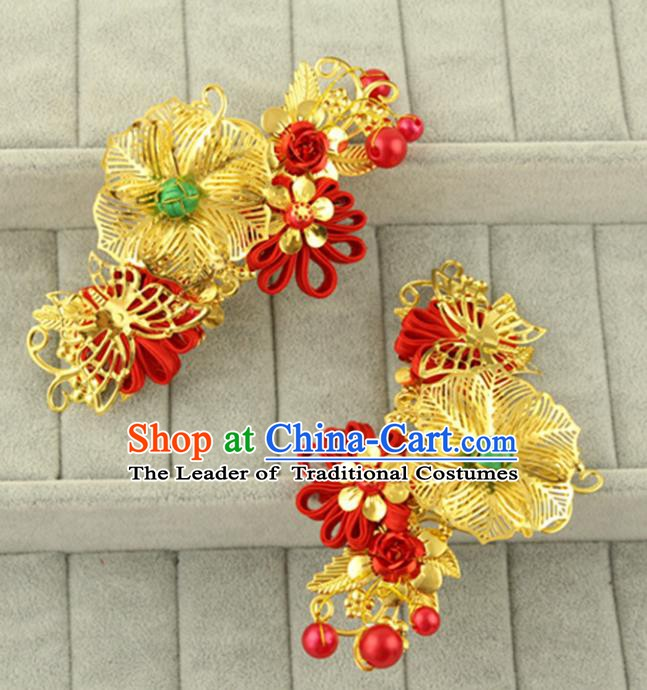 Asian Chinese Handmade Classical Hair Accessories Bride Hair Combs Hanfu Hairpins for Women