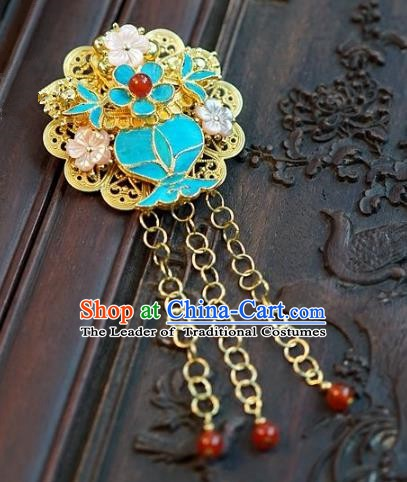 Asian Chinese Traditional Handmade Jewelry Accessories Bride Frontlet Brooch for Women