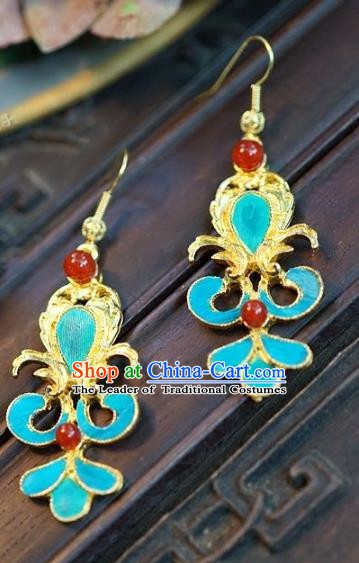 Asian Chinese Traditional Handmade Jewelry Accessories Bride Earrings for Women