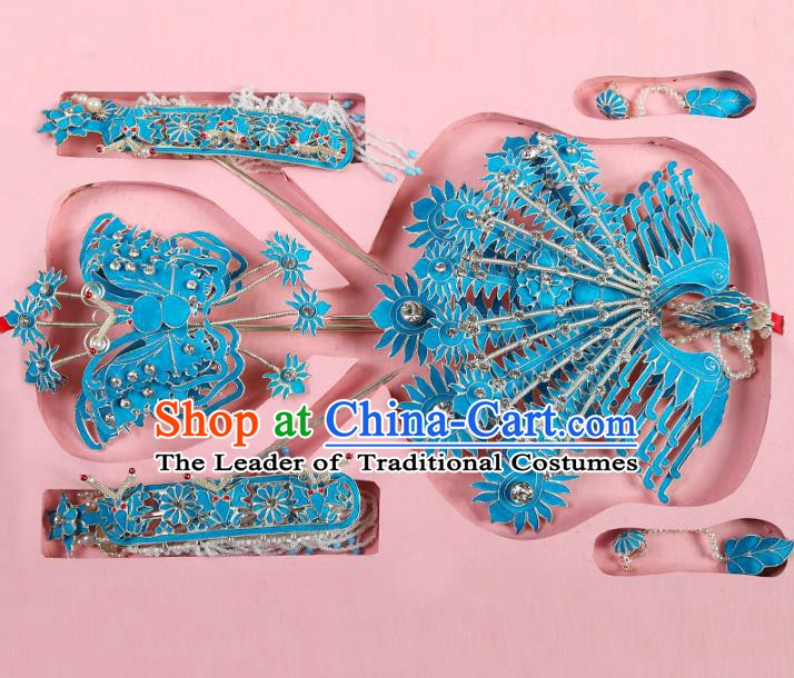 Chinese Beijing Opera Actress Hair Accessories Phoenix Hairpins, China Peking Opera Diva Headpiece