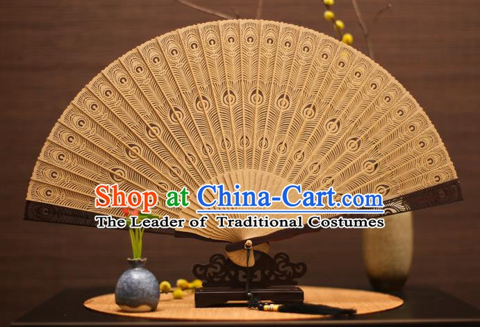Traditional Chinese Crafts Sandalwood Folding Fan Sandal Fans for Women