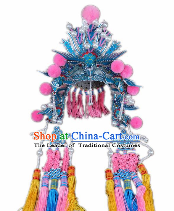 Traditional China Beijing Opera Imperial Empress Phoenix Coronet, Chinese Peking Opera Actress Headwear
