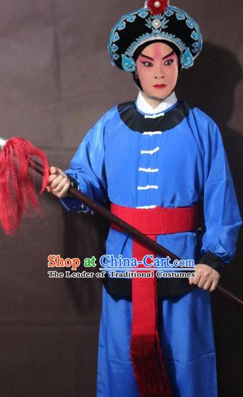 Traditional China Beijing Opera Takefu Costume, Chinese Peking Opera Ministry Footman Clothing