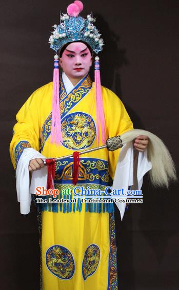 Traditional China Beijing Opera Eunuch Embroidery Costume, Chinese Peking Opera Embroidered Robe Clothing
