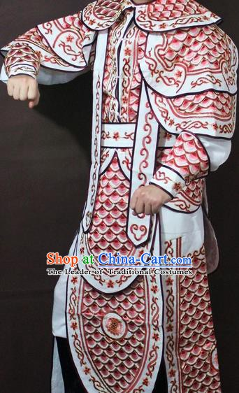 Traditional China Beijing Opera Takefu Embroidered Costume, Chinese Peking Opera Warrior Clothing