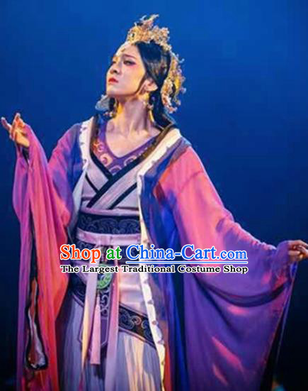 Chinese Traditional Folk Dance Ancient Costume Classical Dance Dress for Women