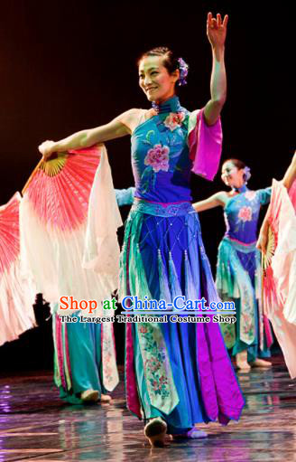 Chinese Traditional Classical Dance Costume Folk Dance Yangko Clothing for Women