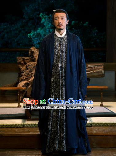 Chinese Traditional Ancient Cabinet Minister Costumes The Rise of Phoenixes Tang Dynasty Chancellor Clothing for Men