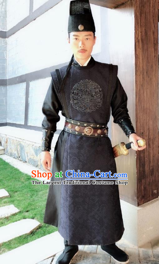 Chinese Traditional Ancient Swordsman Costumes The Rise of Phoenixes Tang Dynasty Imperial Bodyguard Clothing for Men