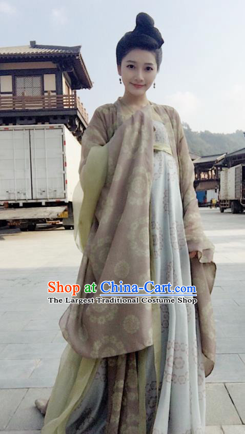 Chinese Traditional Ancient Costumes The Rise of Phoenixes Tang Dynasty Princess Dress Clothing for Women