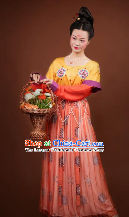 Traditional Chinese Tang Dynasty Palace Lady Hanfu Dress Ancient Apsara Princess Costumes for Women