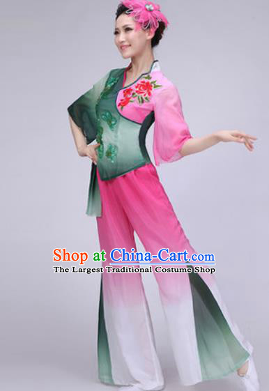 Chinese Classical Dance Fan Dance Costume Traditional Folk Dance Yangko Dress for Women