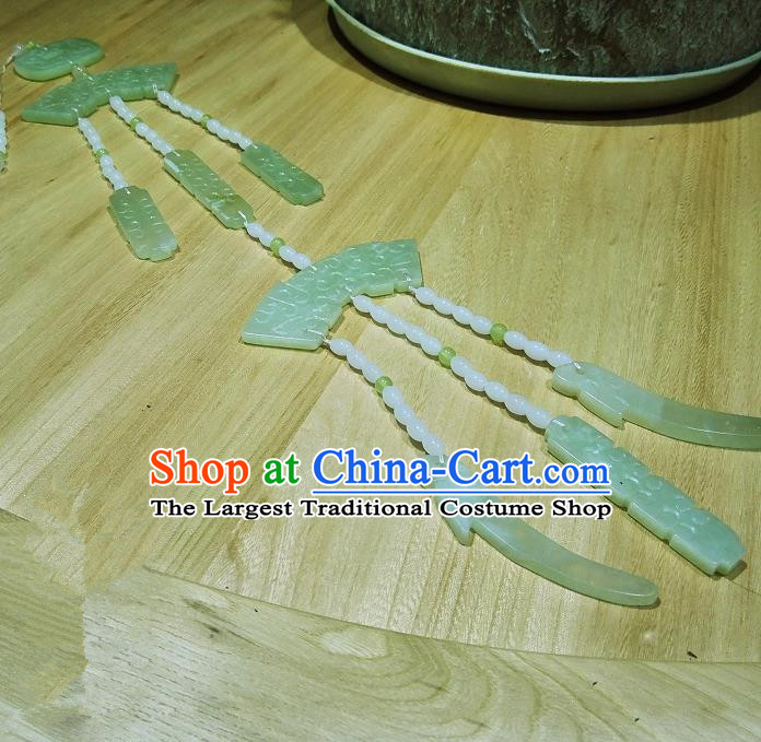 Chinese Ancient Jade Pendant Wedding Jade Waist Accessories for Women