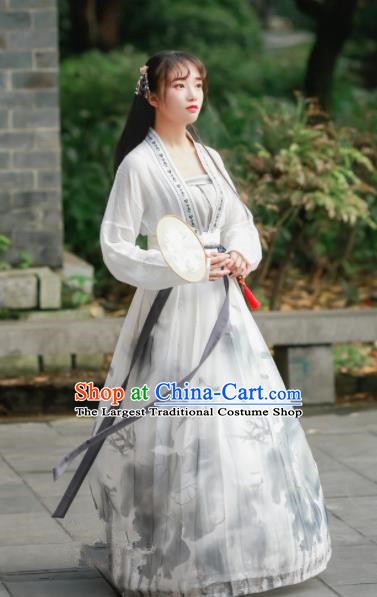Chinese Traditional Tang Dynasty Nobility Lady Costumes Ancient Maidenform Hanfu Dress for Women