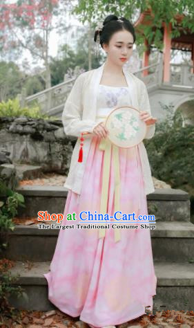 Chinese Traditional Song Dynasty Palace Lady Costumes Ancient Maidenform Hanfu Dress for Women