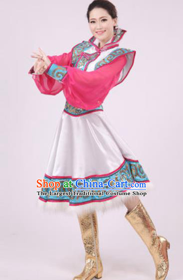 Chinese Traditional Mongol Nationality Dress Mongolian Minority Folk Dance Ethnic Costume for Women