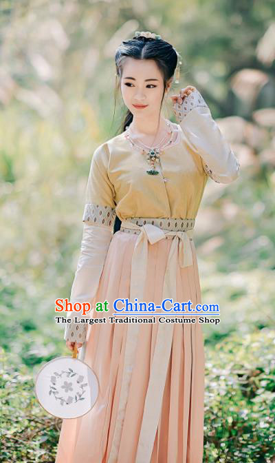 Chinese Traditional Tang Dynasty Young Lady Replica Costumes Ancient Maidenform Hanfu Dress for Women