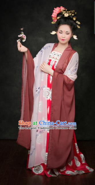 Traditional Chinese Tang Dynasty Palace Lady Hanfu Dress Ancient Maidenform Costumes for Women