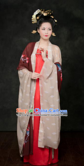 Traditional Chinese Tang Dynasty Hanfu Dress Ancient Palace Maidenform Costumes for Women