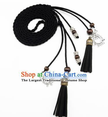 Chinese Ancient Hanfu Hair Accessories Traditional Swordswoman Black Hair Band  for Women