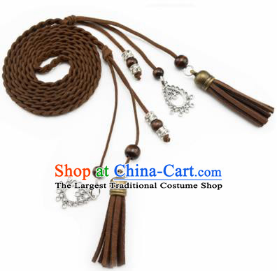 Chinese Ancient Hanfu Hair Accessories Traditional Swordswoman Brown Hair Band  for Women