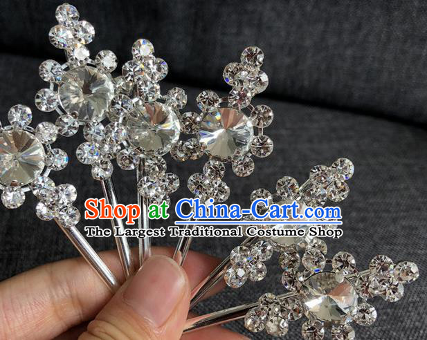 Chinese Traditional Peking Opera Diva Hair Accessories Ancient Crystal Hairpins for Women