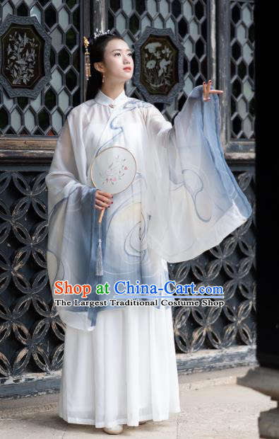 Chinese Ancient Ming Dynasty Nobility Lady Embroidered Costumes for Rich