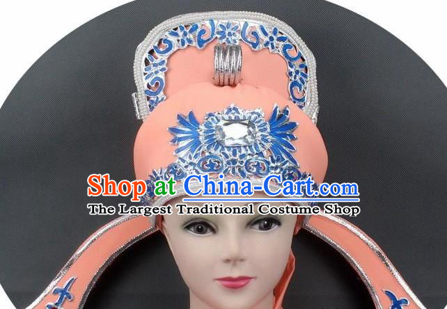 Chinese Ancient Scholar Orange Hat Traditional Peking Opera Niche Headwear for Men