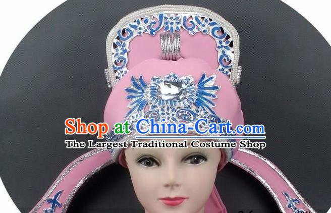 Chinese Ancient Scholar Pink Hat Traditional Peking Opera Niche Headwear for Men