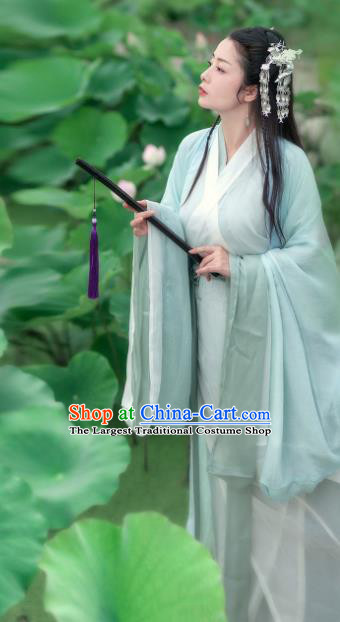 Chinese Ancient Peri Princess Hanfu Dress Swordsman Costumes for Women