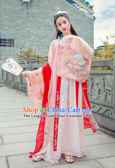 Ancient Chinese Tang Dynasty Palace Princess Hanfu Dress Historical Costume for Women