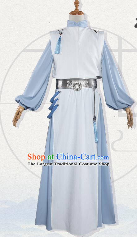 Chinese Traditional Cosplay Nobility Childe Costumes Ancient Swordsman Clothing for Men