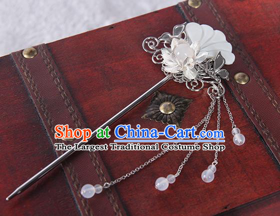 Chinese Traditional Cosplay Hair Accessories Ancient Swordsman Shell Hairpins for Women