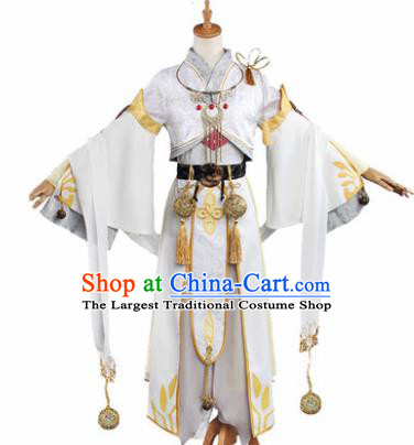 Chinese Traditional Cosplay Knight Costumes Ancient Swordsman Clothing for Men
