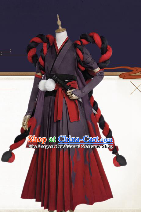 Chinese Traditional Cosplay Master of the Dead Costumes Ancient Swordsman Clothing for Men