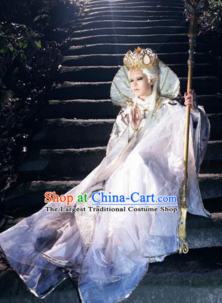 Top Grade Chinese Ancient Cosplay Monks Swordsman Costumes for Men
