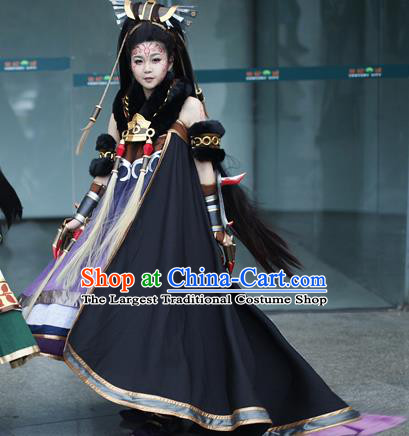 Top Grade Cosplay Assassin Costumes Halloween Female Swordsman Dress for Women