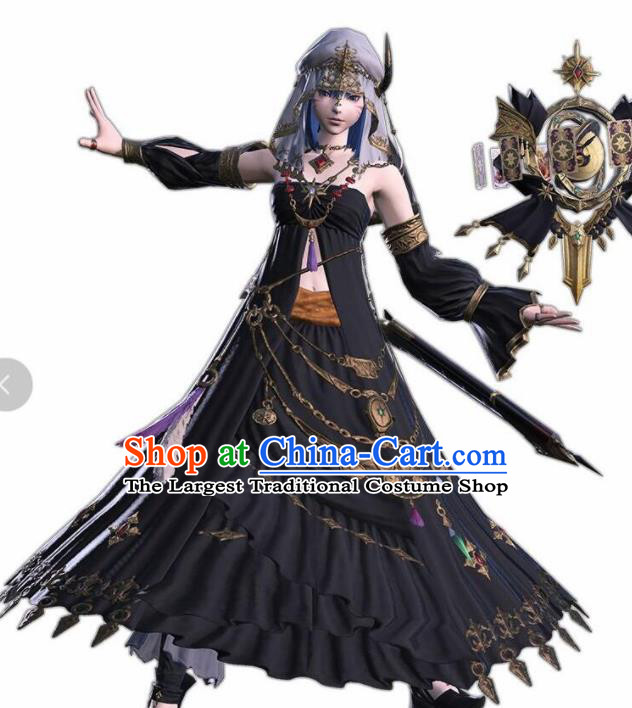 Top Grade Cosplay Female Assassin Costumes Halloween Swordsman Dress for Women