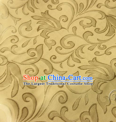 Asian Chinese Traditional Pattern Fabric Golden Brocade Silk Fabric Drapery Material