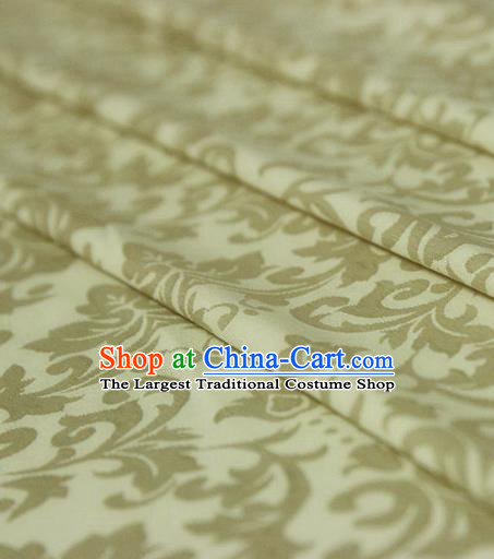 Asian Chinese Traditional Pattern Fabric Ancient Hanfu Jacquard Weave Golden Brocade Silk Fabric Drapery Material