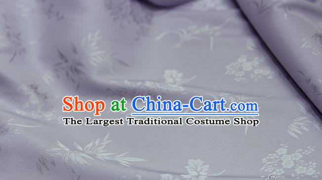 Asian Chinese Traditional Pattern Lilac Silk Fabric Ancient Hanfu Jacquard Brocade Fabric Drapery Material