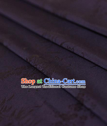 Asian Chinese Traditional Pattern Purple Silk Fabric Ancient Hanfu Jacquard Brocade Fabric Drapery Material
