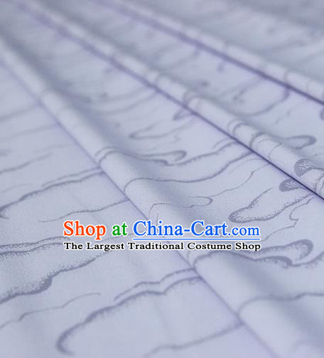 Asian Chinese Traditional Pattern Lilac Silk Fabric Ancient Hanfu Brocade Fabric Drapery Material