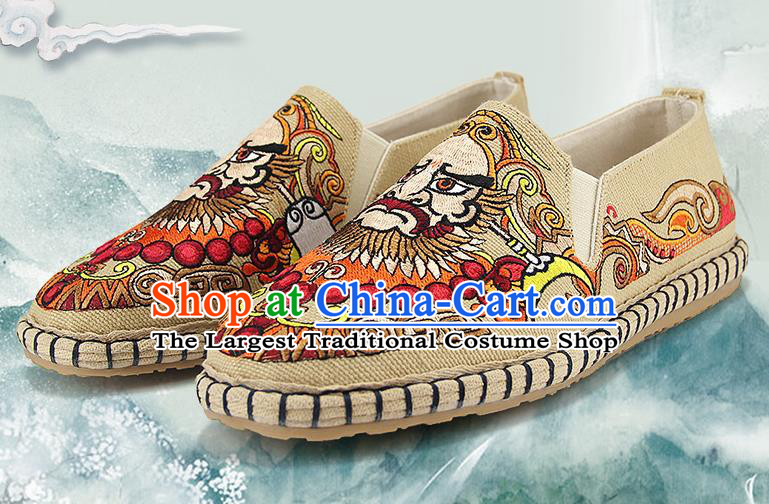 Chinese National Shoes Traditional Multi-layered Cloth Shoes Embroidered Shoes for Men