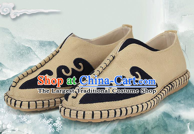 Chinese National Shoes Traditional Multi-layered Cloth Shoes Linen Shoes for Men